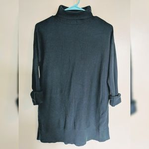 LOFT Teal Turtleneck Tunic